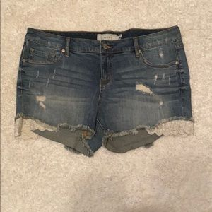 Torrid denim shorts
